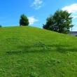 牛久市築山公園;芝生と青空