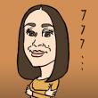 「CMの中での笑顔」中村優子(似顔絵)
