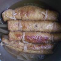 ふきの信太巻きを煮た1(かるぴか)