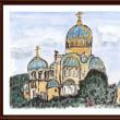 ロシアの風景(1)モスクワ市内で見かけた教会