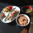 鯵と大根と水菜のサラダ