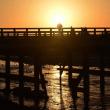 渡月橋 初冬の朝