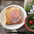 9/2(土)朝食(食パン、サラダ、コーヒー)。