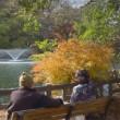 2017.11.29 吉祥寺 井の頭公園: 噴水を眺める二人