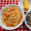 鮭とキャベツのスパゲティ