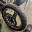 ZZR250 タイヤ交換