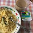 今日のお昼ご飯 冷凍のカルボナーラ