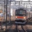 205系M16編成むさしの号八王子行@立川駅