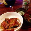 鰻丼の夕食