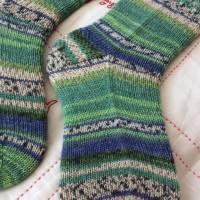 手編み靴下 作品NO.234