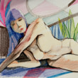 Nude-Muse-angel-Tableau-ヌード-芸術-アート-絵画:陽だまり
