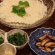 レシピ献立 冷やしソーメン・鶏の手羽先のエスニック焼き・トマトとオクラのさっと煮・たたききゅうりのしょうが風味