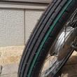 カブ タイヤ交換とステッカーチューン?