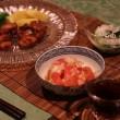 洋風献立 鶏のから揚げ・トマトハニ₋スィート・小松菜のじゃこおろし