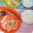 2日分。焼き魚とトースト