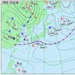 9月22日 アメダスと天気図。