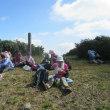 7 津黒山(1118m:岡山県真庭市)登山  山頂にて昼食を