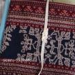 花邑帯教室・イカット羽織ものでの初帯完成!