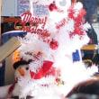 バスの中のクリスマス飾り