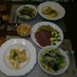 ポークのレモンクリームソースと揚げナスとアボカドのサラダ♪