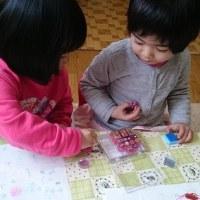 今日は4歳のHちゃんと3歳のRちゃんが、初対面♡