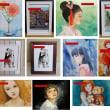 絵画販売・水彩・原画「「夢見る人形・翠の瞳」 」他10枚お買い上げいただきました。