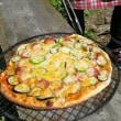 どんぐり村でピザを焼く