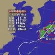 台風18号 午前11時半ごろ、鹿児島県南九州市付近に上陸
