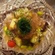 今日の懐石ランチは、牛肉と夏野菜のおろし土佐酢(#ティーサロン鎌倉山倶楽部)