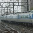 2017年10月22日 中央本線 高尾 189系 M50編成  回9581M 台風 大雨