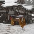 ミモロの高野山詣。雪いっぱいの高野山。寒いけれど、その美しさは感動もの。