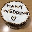Wedding 記念ケーキ