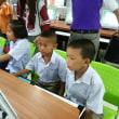 今日は、小学低学年生の コンピューターテスト に同行。