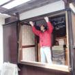 古い木製建具の窓をアルミサッシの窓に取替え