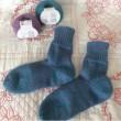 手編み靴下 作品NO.198
