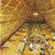 81.大網小屋の中の鮭料理