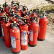 初期消火  消火栓の訓練です