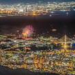六甲山頂から芦屋の花火
