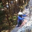 八ヵ月ぶりに日和田での岩登りトレーニングをしました
