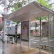 バス停建て替えと電線の地中化」