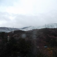 今年2回目の積雪は山だけ。