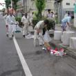 第54回桐生八木節祭り後の清掃活動(桐生支部)