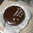 Seriaのティーフィルターとチョコレートケーキセット。