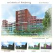「某大学校舎(二点)」アーキテクチュラルレンダリング(建築パース)