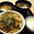 松屋 ガリたま丼 と ミニ牛めし