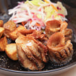 2018.05.22の夕食 コノシロの唐揚げとジャガイモの素揚げ