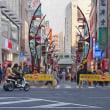 2018.02.03 台東区上野4: ユニークな街灯列が目立つ通り