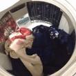 青い着物をワンピに 製作過程