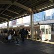静岡駅到着の普通列車や夕方の新幹線(オマケは鶴吉羊羹)