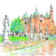 イタリアのパドヴァ大聖堂のスケッチ2